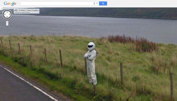 Top Gear's The Stig Is Spotted On Google Maps Yet Again