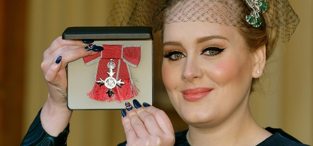 Adele Receives British Order For Excellence