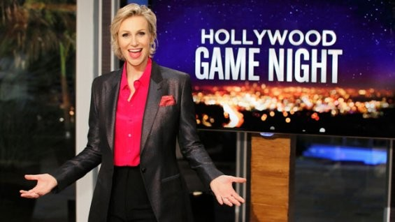 Chris Colfer, Rosie O'Donnell, Kaley Cuoco And A Spice Girl All Join Jane Lynch For Hollywood Game Night