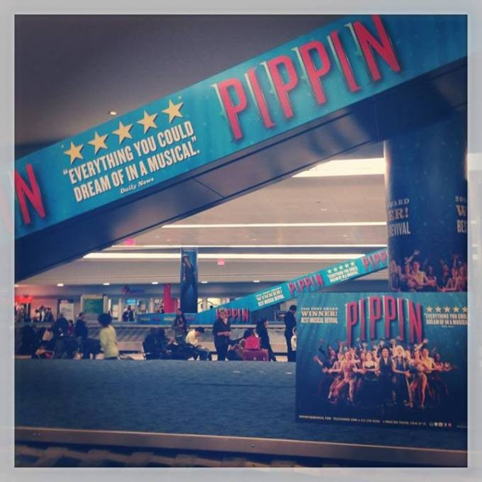 Pop Of Love: JFK International Gets All Pippin'd Out To Brighten Travellers Day
