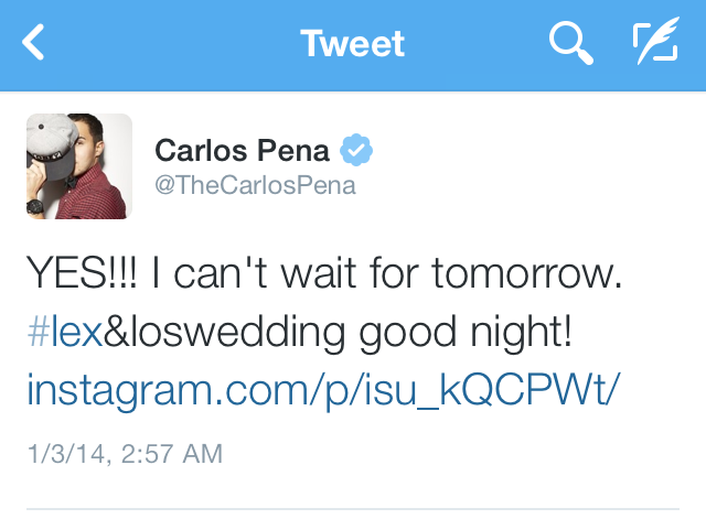 Carlos Pena And Alexa Vega To Marry Today