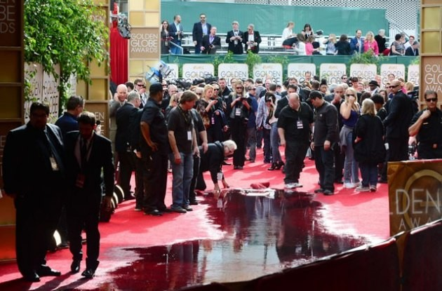 Burst Pipe Brings A Dampener To The Golden Globes' Red Carpet