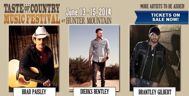 OFFICIAL CONTEST: Win Passes To The 2014 Taste Of Country Music Festival In New York!