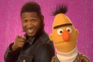 Usher And Bert Try To Uncover What's 'Unique' On Sesame Street
