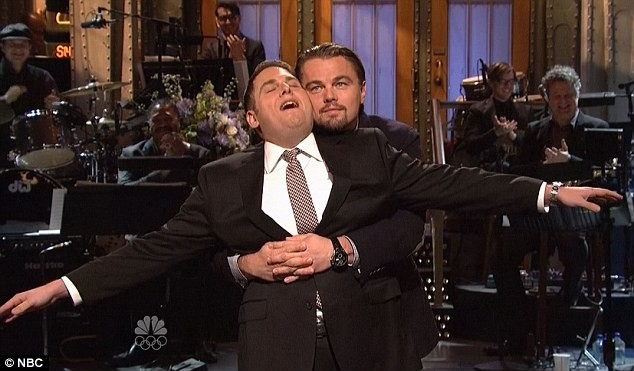 Leonardo DiCaprio And Jonah Hill Recreate Titanic Scene On Saturday Night Live