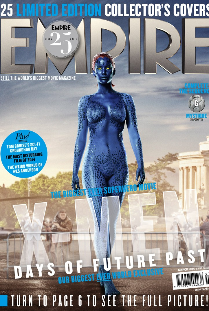Jennifer Lawrence Bares It All In Blue For Empire Magazine Cover