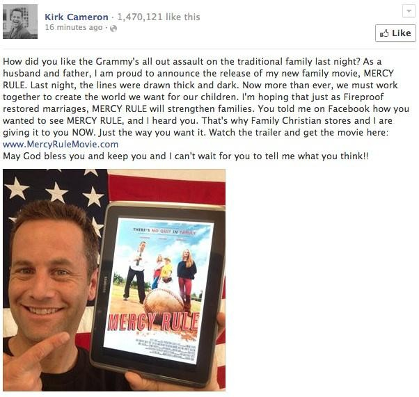Kirk Cameron Slams Grammy's Gay Wedding Ceremony