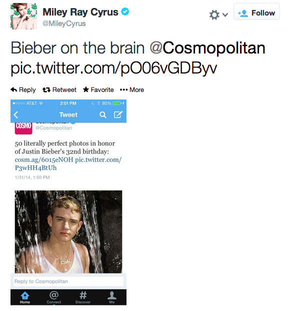 Miley Cyrus Calls Out Cosmopolitan Magazine For Mix Up
