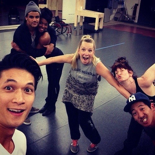 Glee Stars Give Behind The Scenes Stills On Instagram