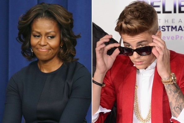 First Lady Michelle Obama Offers Motherly Advice To Justin Bieber