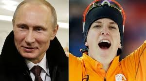 Russian President Vladimir Putin Cuddles Openly Gay Dutch Speedskater