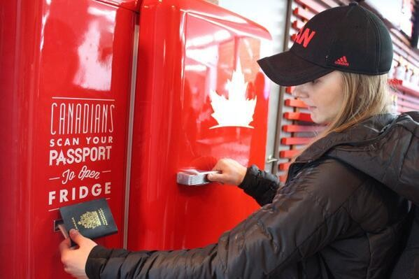 Canada Wins The Olympics With Passport Activated Beer Fridge