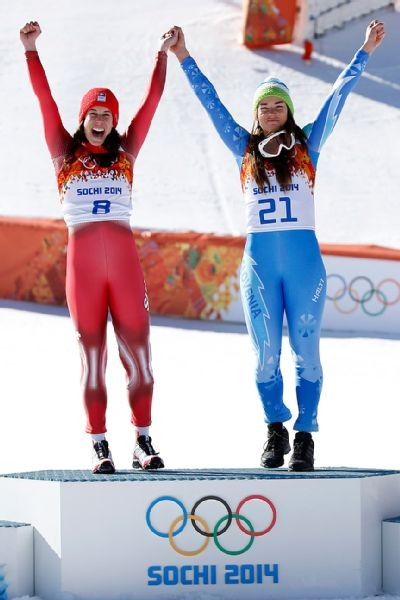 Tina Maze And Dominique Gisin Tie Slovenia And Switzerland For Alpine Skiing Gold