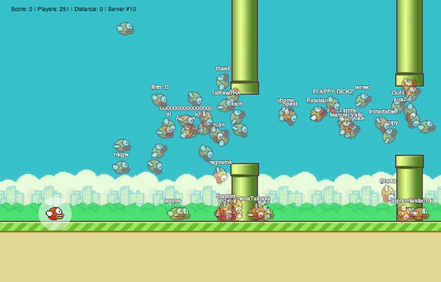 FlapMMO: A Flappy Bird Clone that Allows Up to 1,000 Simultaneous Players