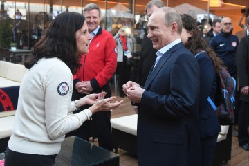 Vladimir Putin Plays The Gracious Host On Visit To The Team USA House In Sochi