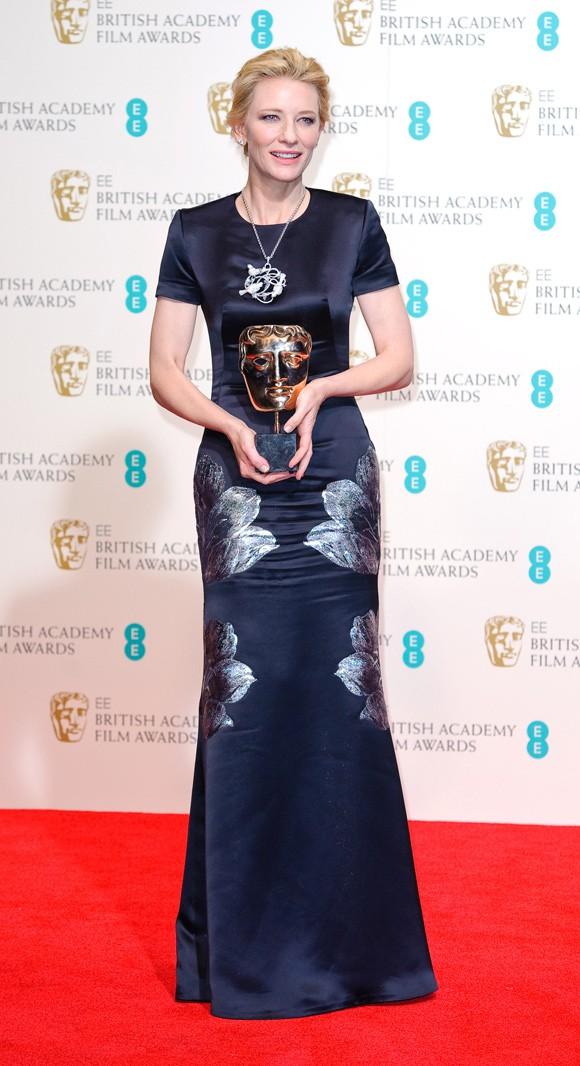 Cate Blanchett Dedicates Her BAFTA To The Late Philip Seymour Hoffman