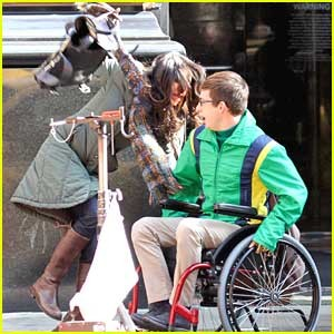 Kevin McHale Runs Into Bystander While Filming New Scenes For Glee