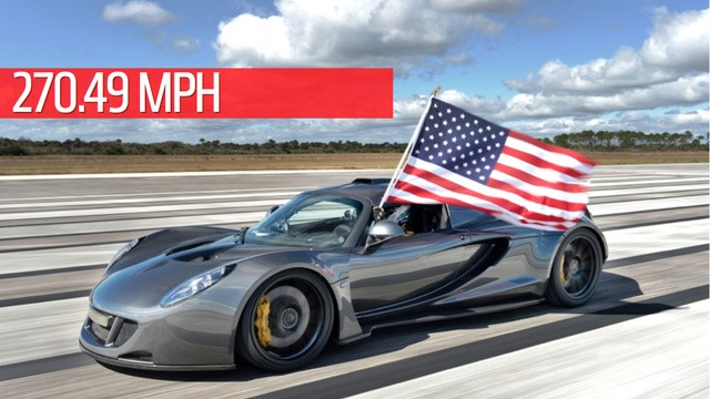 The Hennessey Venom GT Becomes World's Fastest Car Clocked at 270.49 MPH