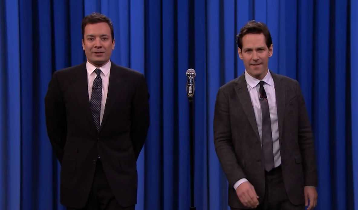 Jimmy Fallon And Paul Rudd Duke It Out With Lip Syncing On The Tonight Show