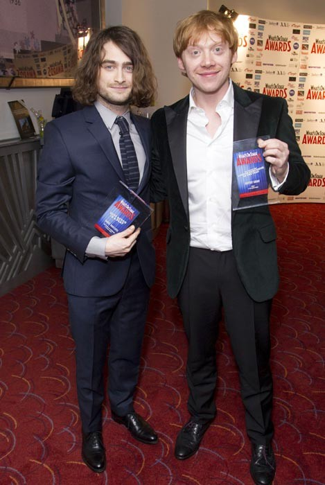 Daniel Radcliffe And Rupert Grint Are Partners In Victory Once More At The WhatsOnStage Awards