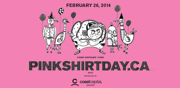 Wednesday February 26th Marks Pink Shirt Day