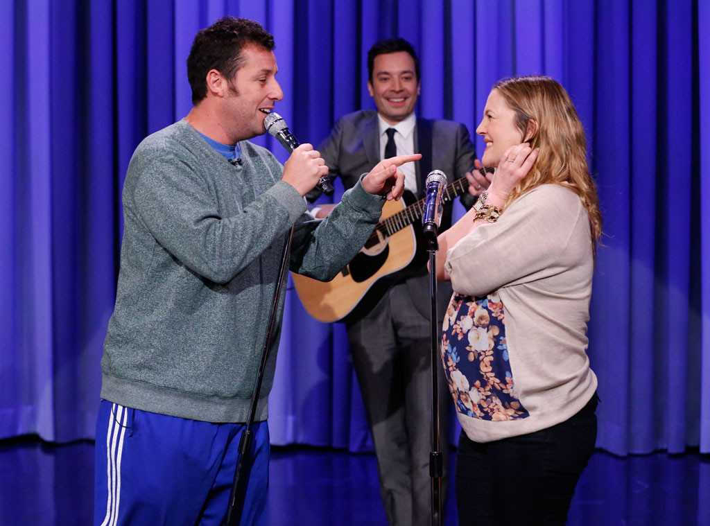 Adam Sandler and Drew Barrymore Sing Ballad on The Tonight Show