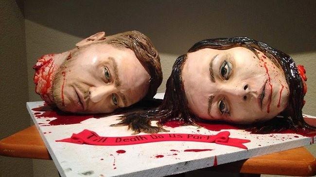 Cake Artist Presents A Killer Cake For Her Reception