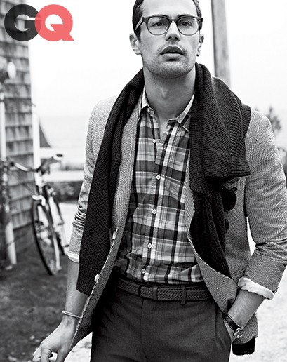 Actor Theo James Gets Preppy In Spring Fashion For GQ Magazine