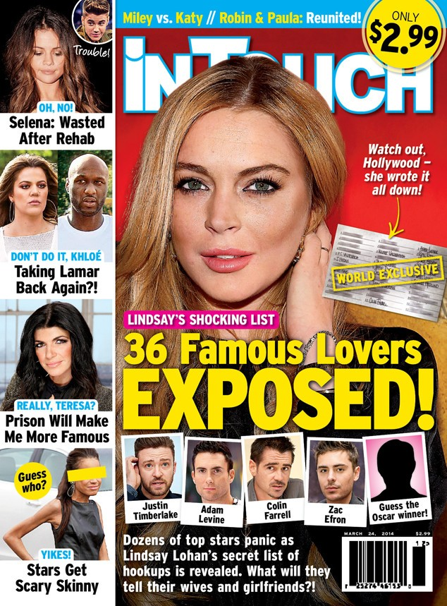 Lindsay Lohan Exposes Long List Of Famous Lovers