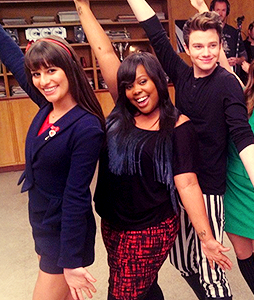 Chris Colfer, Lea Michele And Amber Riley Help Glee Prepare To Defy Gravity With 100th Episode