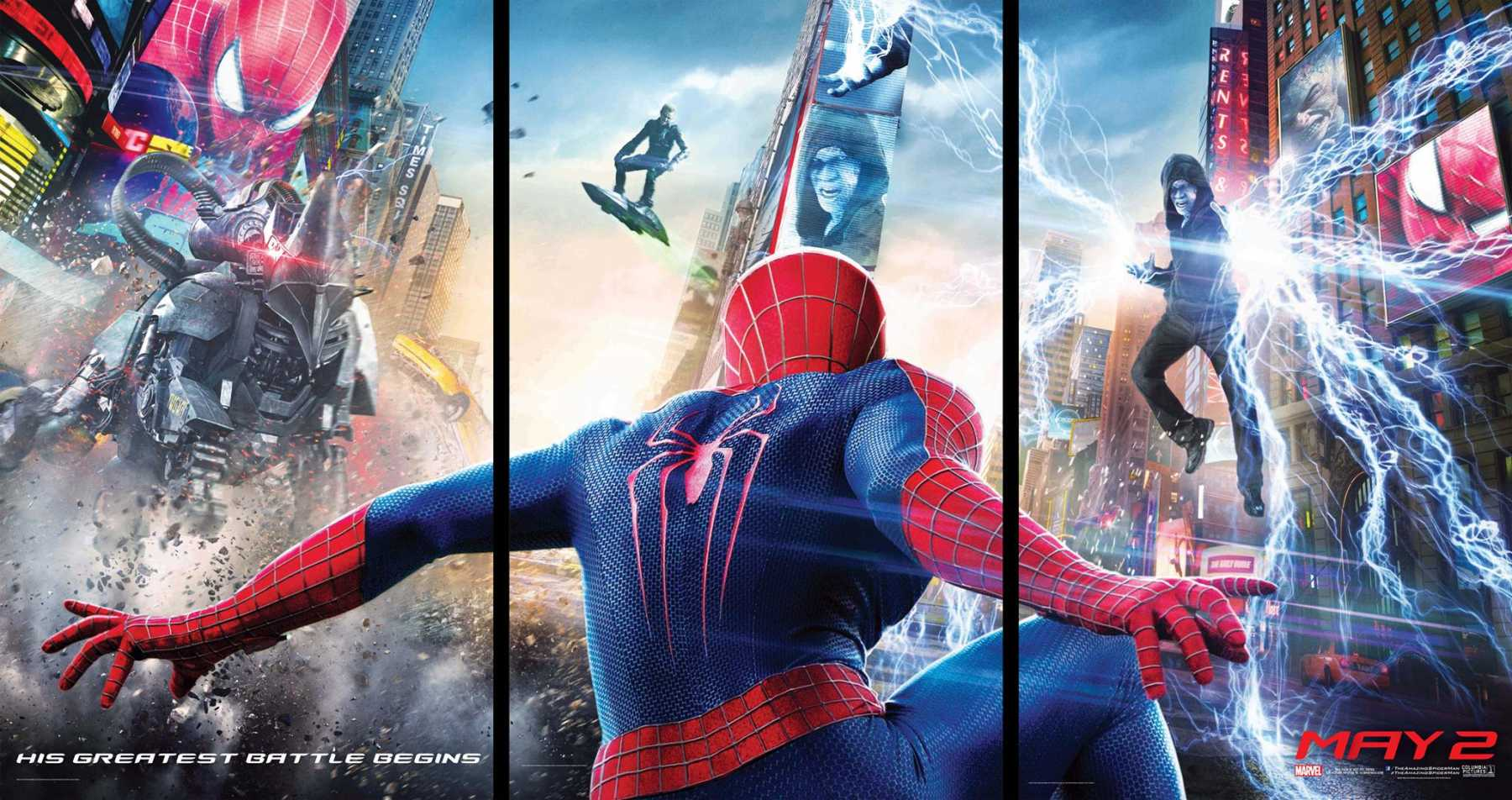 The Amazing Spiderman Battles Electro And The Rhino In New Trailer