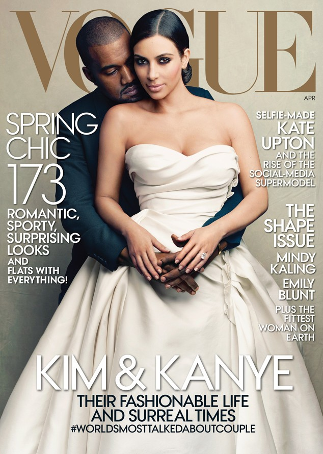 Kim Kardashian And Kanye West Featured On Cover Of Vogue