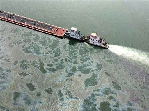 Oil Spill Near Galveston, Texas Blocks Houston Ship Channel