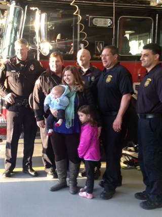 Firefighters Urge Little Girl To Let Go Of Her Fear By Singing