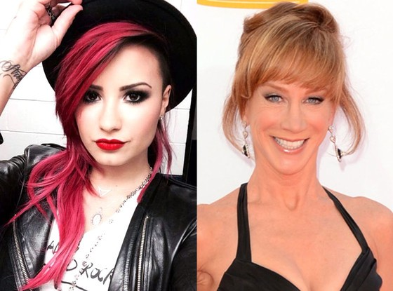 Kathy Griffin's Tweet About Demi Lovato Results In A Storm Of Twitter Threats