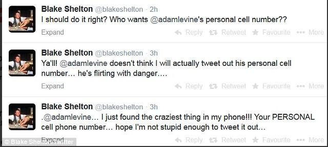 Blake Shelton Tweets Adam Levine's Phone Number On Live Television