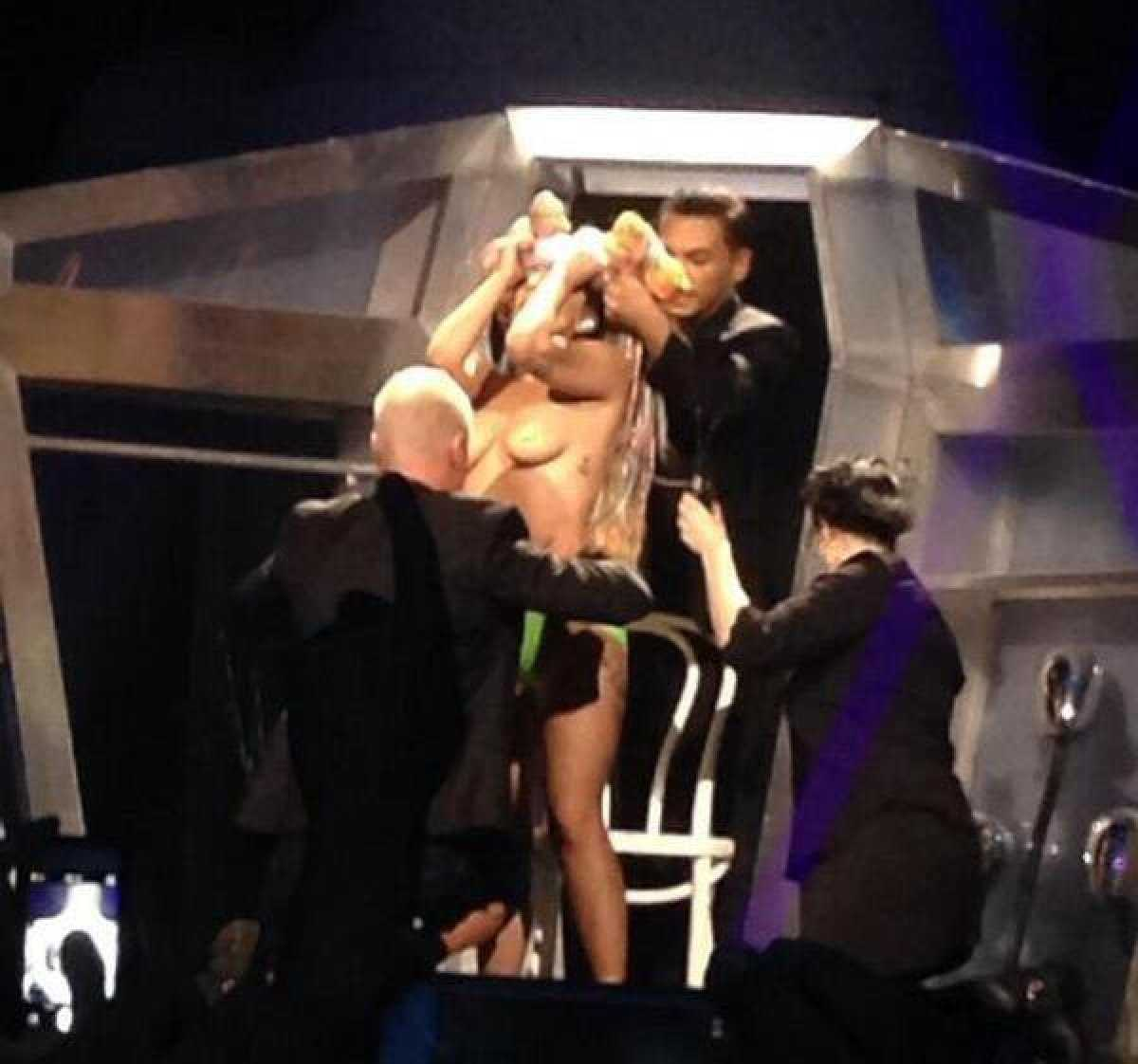 Lady Gaga Proves She's Not Bashful With NSFW Mid-Concert Striptease