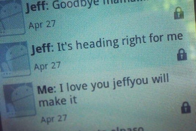 Son Sends Heart-Breaking Goodbye Texts To His Mother During Arkansas' Tornado