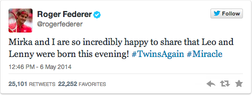 Roger And Mirka Federer Welcome Twin Boys Into Their Now Family Of Six