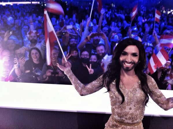 Austria's Conchita Wurst Sings Into First Place In Eurovision Song Contest