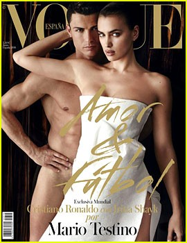 HELLO!! Soccer Star Cristiano Ronaldo Gets BUTT NAKED (Almost) For Vogue Spain Cover!!