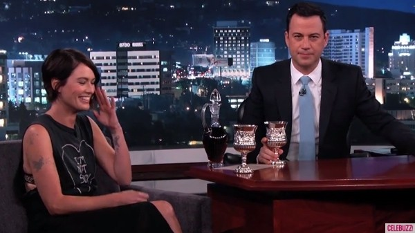 Jimmy Kimmel And Lena Headey Trade Insults Over Wine--'Game Of Thrones' Style
