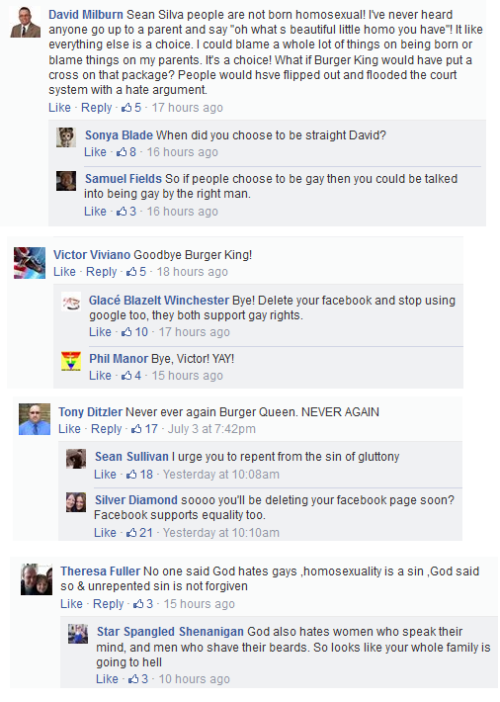 Conservative Christians Bring Flame-Grilled Hatred On Burger King Facebook Page