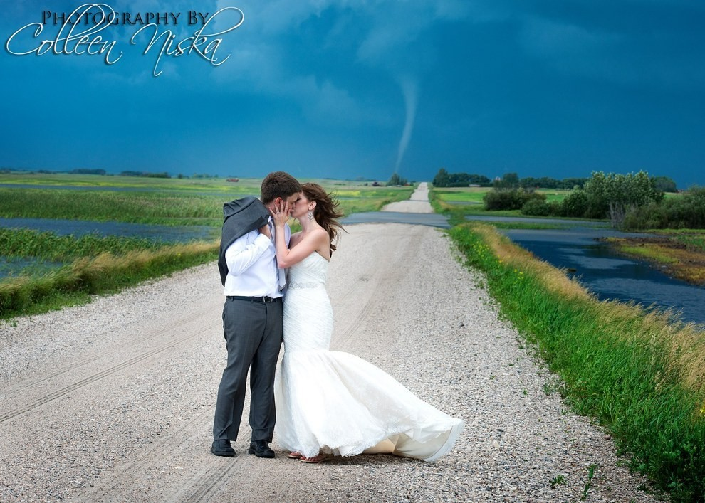 Newlyweds Get Caught Up In A Whirlwind Wedding Shoot