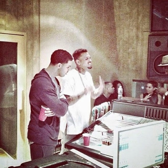 No More Drama: Chris Brown And Drake Put Rihanna Issues Aside To Make New Music