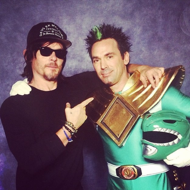 The Walking Rangers? Daryl Dixon Meets The Green Ranger And The World Is Now A Better Place