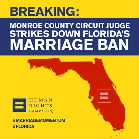 There Are Rainbows In The Sunshine State Today As Gay-Marriage Ban Is Ruled Unconstitutional