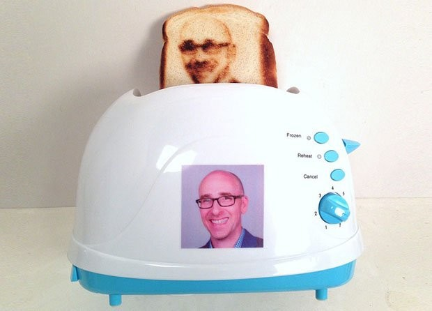 Want The Hottest Selfie In Town? This Toaster Can Imprint Your Face Onto Slices Of Bread