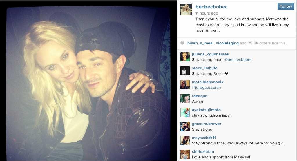 Becca Tobin Opens Up After Death Of Boyfriend Matt Bendik