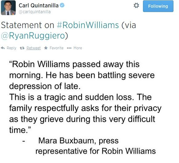 Breaking: Robin Williams Dead, Apparent Suicide | Robin Williams
